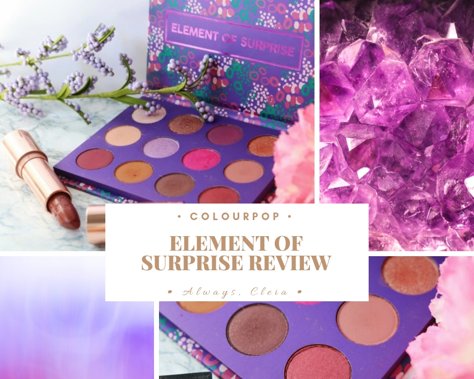 ColourPop Element Of Surprise Palette | Review + 2 Looks